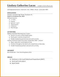 5 First Time Student Resume Financial Statement Form A 1st Job Examples