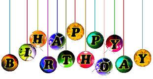 Free birthday clipart Animated happy