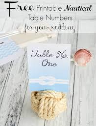 free printable nautical wedding table numbers