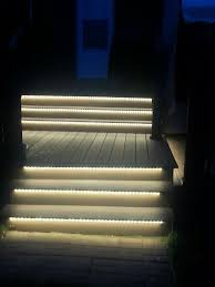 Solar Lights For Deck Stairs by Garden Outdoor Stair Lights Led Decoration Outdoor Stair Lights