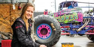 Mechanical Engineering Major Rosalee Is The Youngest Professional Monster Truck Driver In World