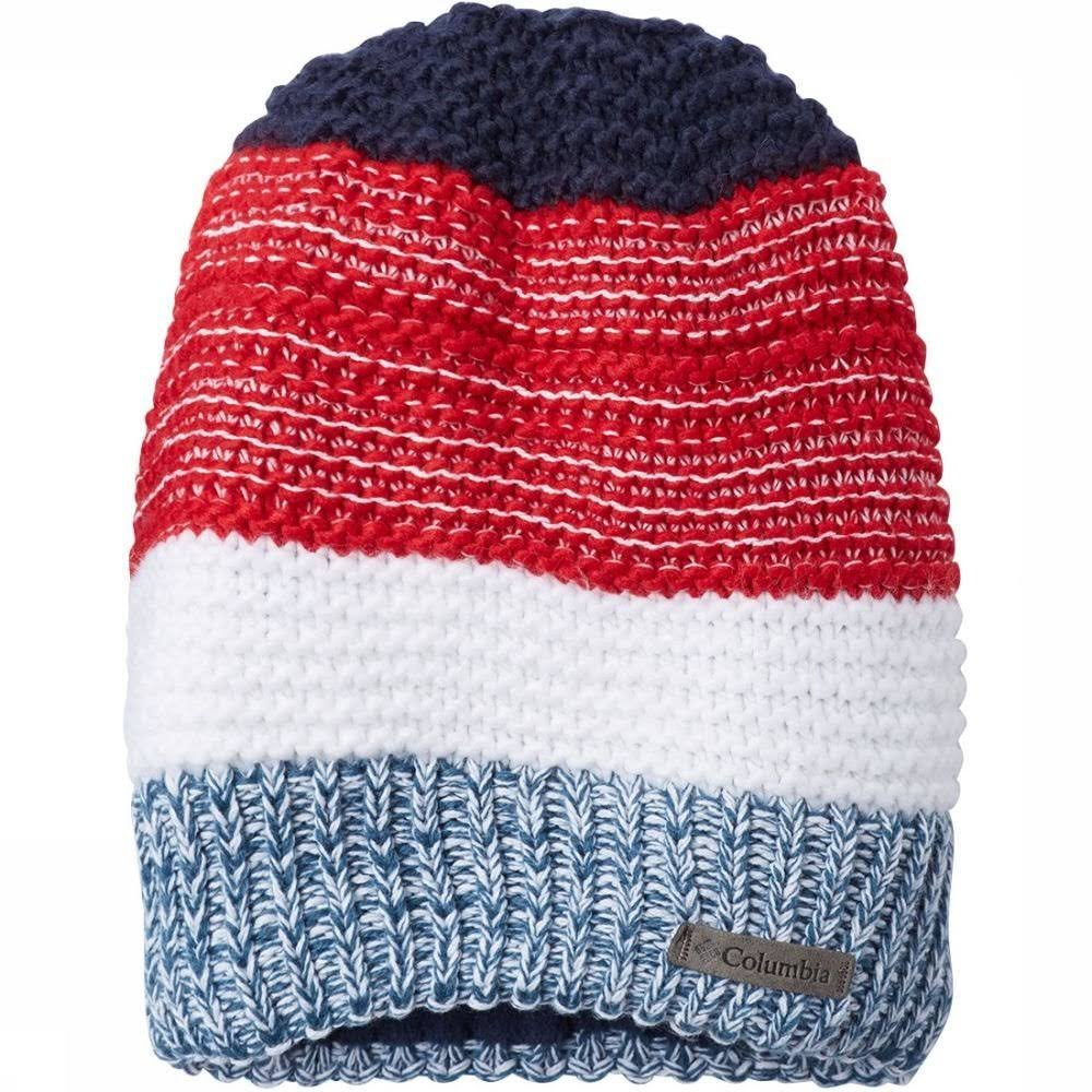 Columbia Gyroslope II Beanie - Kids' Mountain Red/Collegiate Navy, One Size