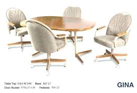Swivel Dining Chairs With Casters Casters For Dining Room Chairs