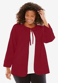 chenille bed jacket by only necessities plus size robes