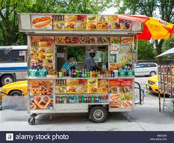 Traditional New York Street Food Van Truck Stand, New York City ...