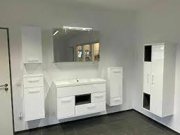 badezimmermöbel badmöbel set 6 teilige weiß hochglanz led