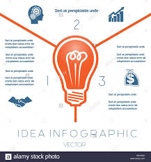 light bulb infographics template on three possible to