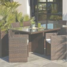 table de jardin resine tressee marron phil barbato jardin