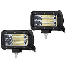 liteway 5inch 2x 120w cree led light bar flood beam