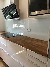 küchenrückwand aus glas glasrückwand küche wohnung küche