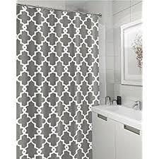 Amazon Geometric Patterned Shower Curtain 72
