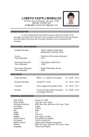 Example Of Educational Background In Resume 4