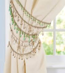 White Antler Curtain Tie Back by How To Make Beaded Curtain Tie Backs Beaded Curtains Curtain