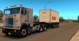 Container 20ft 3 Axles Mod - ATS Mod / American Truck Simulator Mod