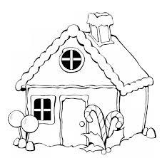 coloriage maison décorée pour noël à imprimer sur coloriages info