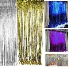 multi color metallic fringe curtain party foil tinsel room decor 3