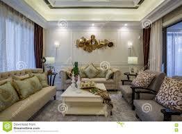100 Modern Luxury Design Interior Home Parlor Living Room Villa Stock