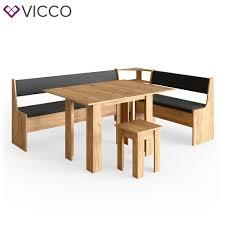 vicco eckbankgruppe eiche 210x150cm esszimmergruppe eckbank sitzgruppe