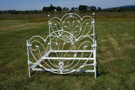 Antique Wrought Iron King Headboard by White Wrought Iron Headboard 2017 Also Picture Decoregrupo