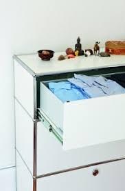 usm haller storage unit with 3 drawers