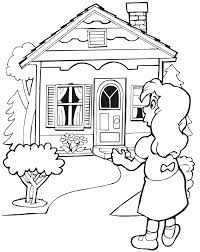 Cabin Coloring Pages 48