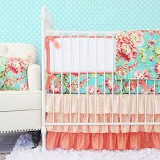 coral camila bumperless crib bedding caden lane