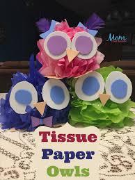 Easy Handwork Ideas For Kids Lovely Tissue Paper Owls Craft Pinterest