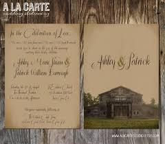 Wedding Invitations Cheap Rustic