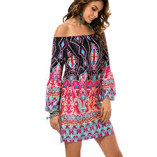 Bohemian Clothing Aliexpress Buy Fashion European Style Robe Dress Flower Print Woman Clothes