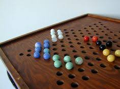 Vintage Wooden Chinese Checkers Game Board