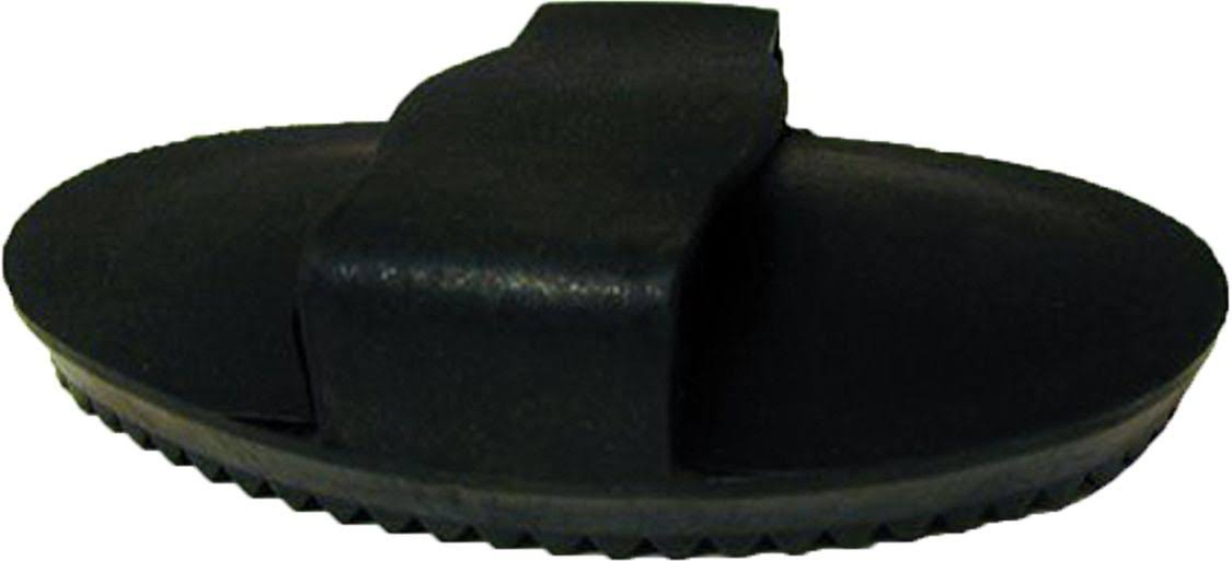 Horse and Livestock Prime - Soft Rubber Curry Brush for Horses - Black - Large