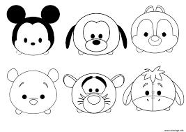 Coloriage Enfant Disney Tsum Facile Simple JeC 15943