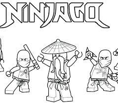 Ninjago Coloring Pages Golden Ninja 2528732