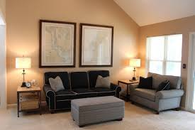 selecting proper paint color brilliant black furniture living room