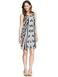 buy kashana viscose black zig zag printed beach tunic dress for