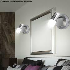 details zu 2x led wand len bad badezimmer spiegel spot bilder strahler leuchten schalter