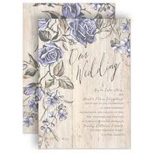 Purple Wedding Invitations Rustic Rose Invitation
