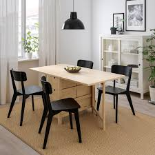 norden lisabo tisch und 4 stühle birke schwarz 26 89 152x80 cm