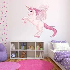 volle farbe einhorn flügel pegasus aufkleber mädchen kinder schlafzimmer dekoration large