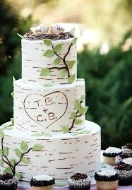 Country Style Wedding Cake Toppers Birch Inspired With Bird Rustic Nz