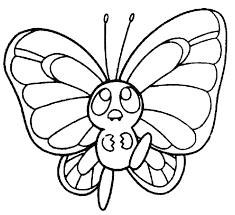 Butterfly Clipart Coloring Pages 1