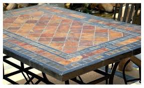 popular of slate top outdoor dining sets slate tile kitchen table