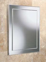 Pivot Bathroom Mirror Chrome Uk by Hib Emma Rectangular Bevelled Mirror On Mirror 400 X 500mm 63504000