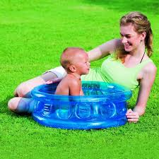 51112 Bestway D25xH10 64cmxH25cm Kiddie Pool With 3 Air Chambers Infant