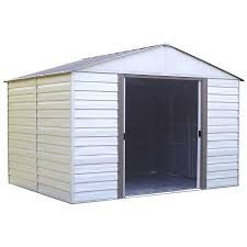 Arrow 10x12 Shed Assembly by Shop Arrow Vinyl Coated Steel Storage Shed Common 10 Ft X 12 Ft