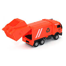 100 Orange Truck Shop 143 Racing Bicycle Toy Car Carrier Vehicle Garbage