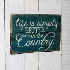 Rustic Country Hand Painted Reclaimed Pallet Wood Sign