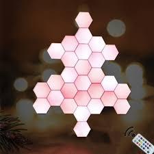moderne nacht lichter quantum le modulare hexagonal bunte licht led farbwechsel diy indoor decor wohnzimmer nacht licht