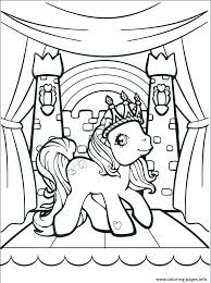 Unicorn Coloring Page My Little Pony Pages