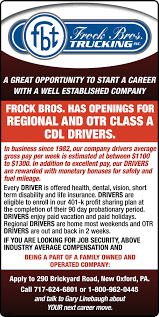 100 Start A Trucking Company A Career With A Well Established Frock Bros Inc